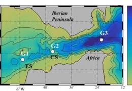 El trabajo recoge por primera vez una evolución temporal de la tasa de acidificación de las aguas del Atlántico Norte y el Mediterráneo que se intercambian a través del canal./ CSIC-ICMAN