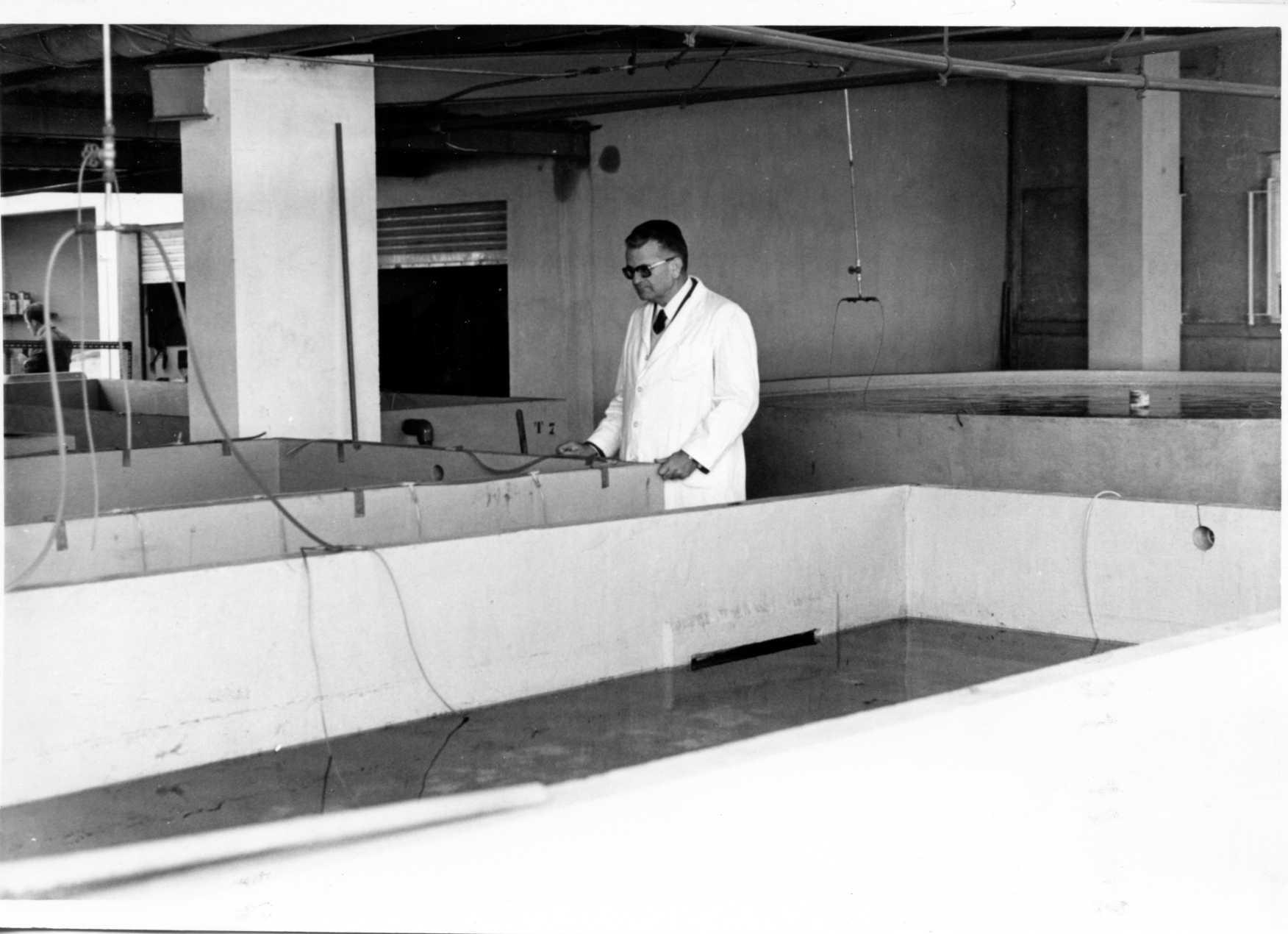Tanques para cultivos marinos en la foto Dr.J. Rodríguez-Roda